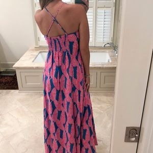 Vineyard Vines, size 4, pink & blue maxi dress